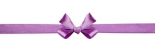 Violet Silk Ribbon And A Bow