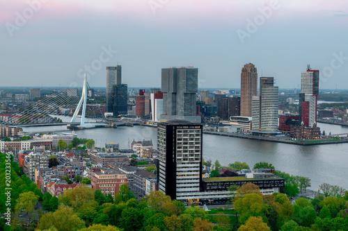 Staande foto Rotterdam Rotterdam skyline photography from euromast, The Netherlands