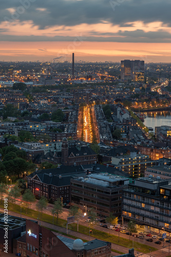 Poster Havana Rotterdam skyline photography from euromast, The Netherlands