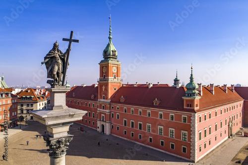 Fototapeta Kolumna Zygmunta III Wazy na placu Zamkowym obraz