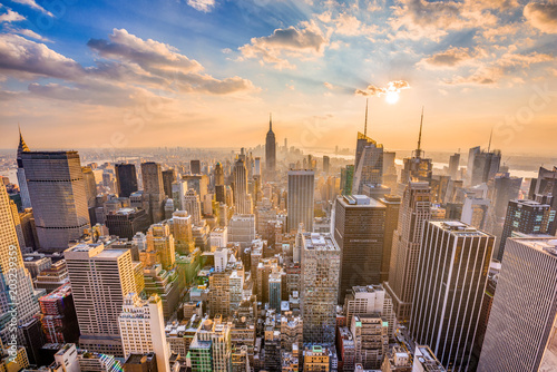 Stickers pour portes New York New York City Skyline