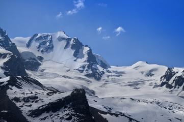 Gran Paradiso peak (4061m altitude) in Italy Alps