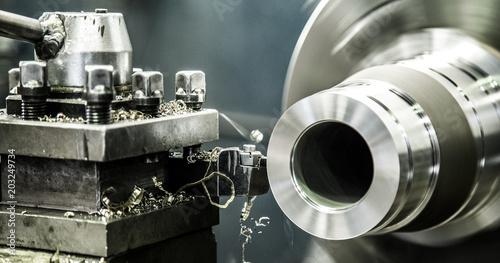 Türaufkleber Metall Industry lathe machine work