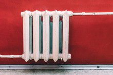Old White Cast-iron Battery