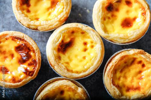 delicious egg tart Fototapeta