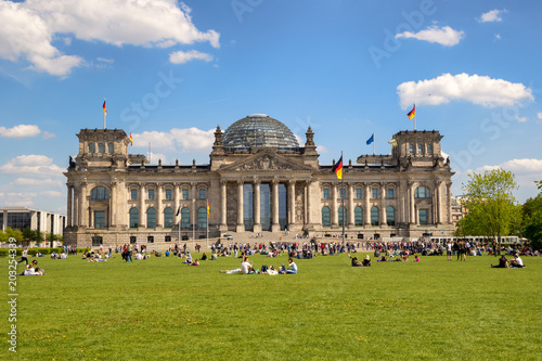 Reichstag building Berlin Germany