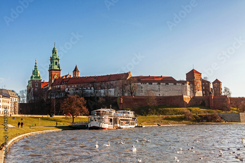 Wall Murals Prague Wawel hill with royal castle in Krakow