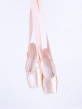 Hanging Pink Ballet Shoes Isol...