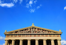 The Parthenon In Nashville, Tennessee Is A Full Scale Replica Of The Original Parthenon In Greece. The Parthenon Is Located In Centennial Park.