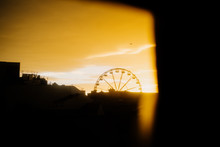 Ferris Wheel At Sunrise, Galwa...