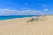 Vista da praia da comporta no Alentejo Portugal