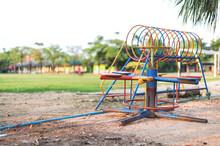 Old Children Playground With S...
