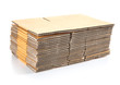 canvas print picture - stack of cardboard boxes isolated on white