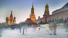 Red Square With Kremlin And St...
