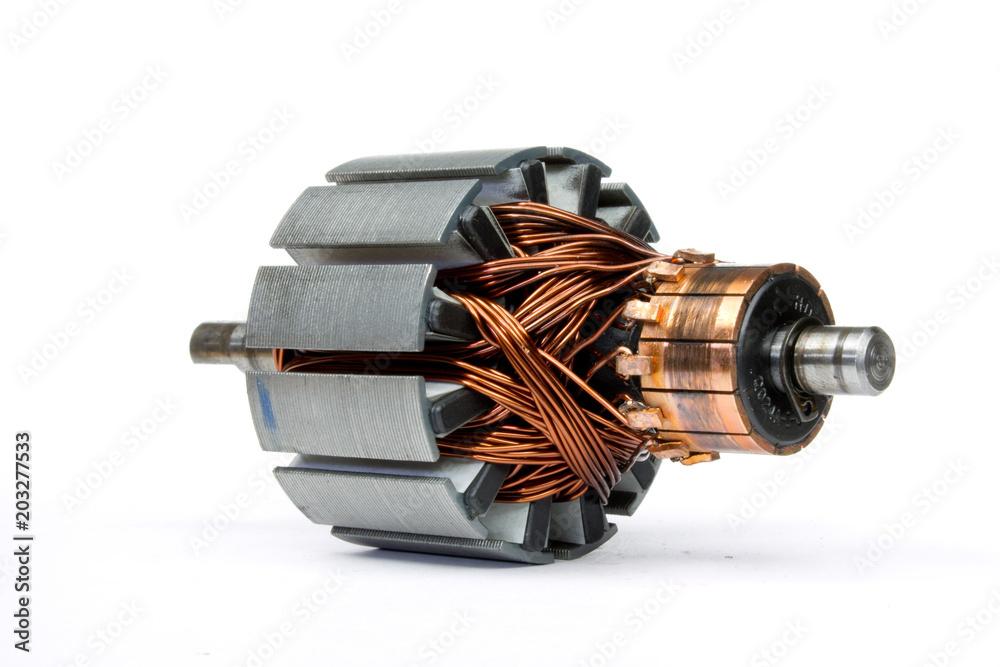 Fototapeta electric motor on a white background
