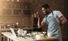 African-american Man Baking Co...