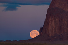Moonrise At Shiprock In New Me...