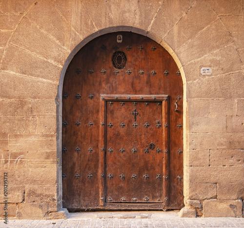 Old wooden gate in Navarra, Spain