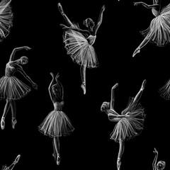 Fototapeta Taniec / Balet Seamless ballerina