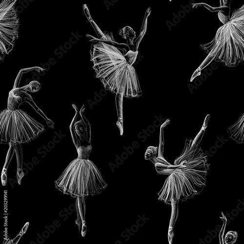 Photo  Seamless ballerina