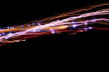 Lichtstreifen Verkehr Bei Nacht