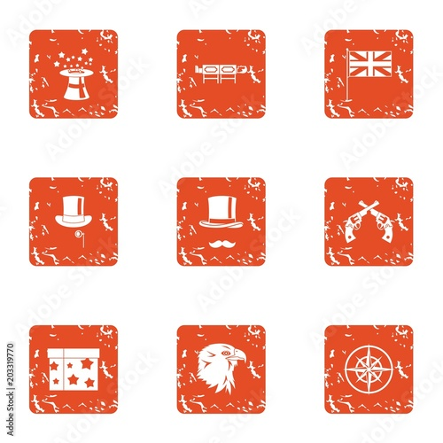 Bewitched icons set Wallpaper Mural