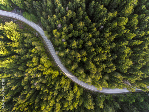 An arial view of the beautiful Bowen Island, BC, Canada.
