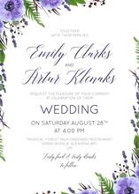 Wedding Floral Invite, Invitat...