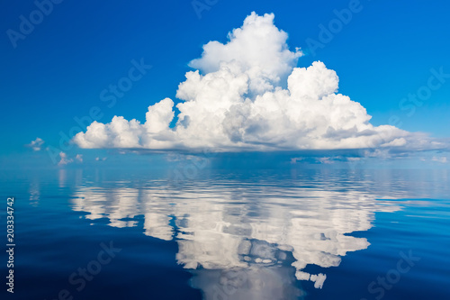 Foto op Plexiglas Zee / Oceaan Beautiful white clouds over ocean, Maldives