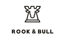 Bull Deer Moose And Chess Rook Fortress Logo Design