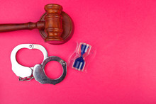 Gavel With Stand And Handcuffs