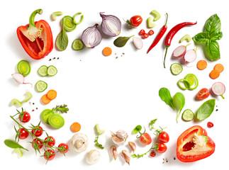 Fototapeta various fresh vegetables