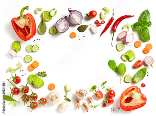 Tuinposter Groenten various fresh vegetables