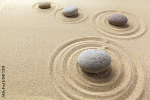 Aluminium Prints Stones in Sand zen garden meditation stone background