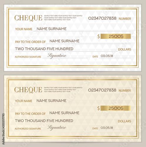 Check (cheque), Chequebook template Canvas-taulu