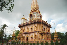 A Tower Of Wat Chalong Temple,...