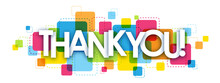 """""""THANK YOU"""" Vector Letter Banner"""