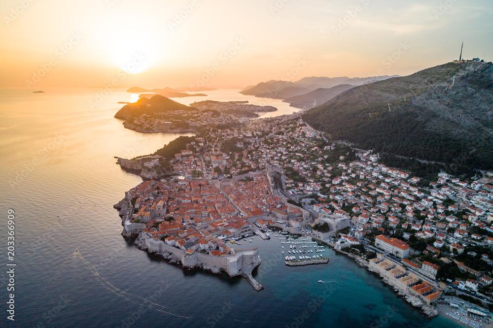Fototapeta Panorama Dubrownika - Perła Adriatyku