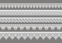 Seamless Vector Lace Ribbon Pattern