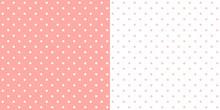 Pastel Pink Retro Design Polka...