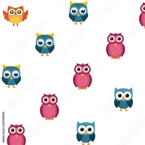 Canvas Prints Creatures nice owl pattern logo