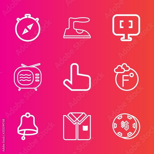 Premium set with outline vector icons  Such as travel