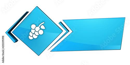 Niebieski baner 3D