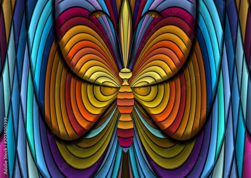 Fototapeta dekoracyjny motyl