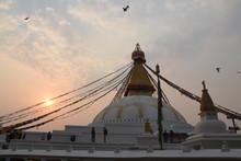 Dusk At Boudhanath Stupa, Kath...