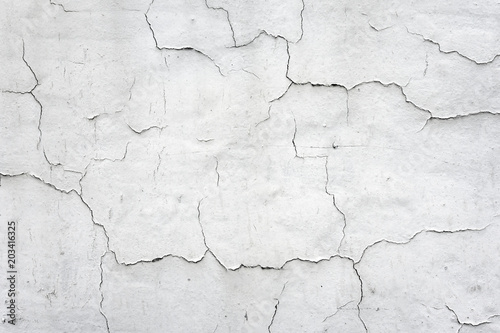 Fotografía  background of cracked white wall