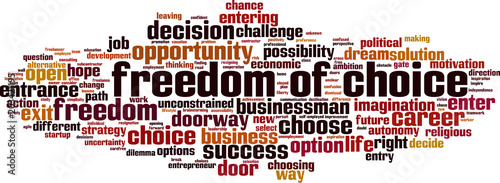 Freedom of choice word cloud Wallpaper Mural