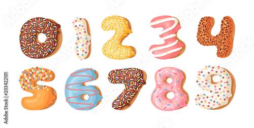Fotografía  Cartoon vector illustration donut