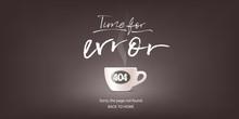 404 Error Page Vector Illustra...