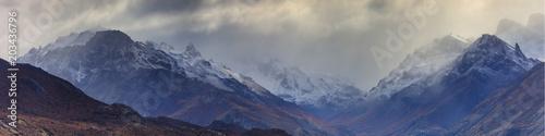 Foto auf Gartenposter Gebirge Mountain range near El Chalten
